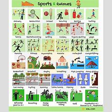 Learn English Vocabulary For Sports And Games  Eslbuzz Learning English