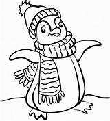 Coloring Penguin Printables Printable Penguins Cartoon Popular sketch template