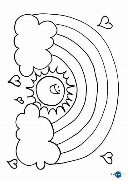 Rainbow Coloring Pages Adults Printable Getcolorings Colorings