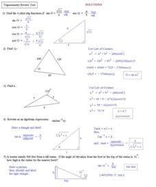 Trigonometry Review Worksheet Math Plane Trigonometry Review 2