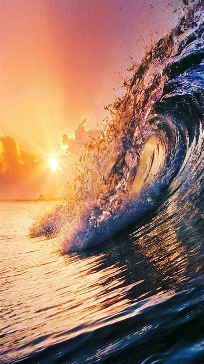 Sunset Surfing Iphone Wave Golden Wallpapers Iphonewalls