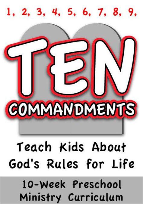 the 10 commandments 4 week preschool ministry curriculum 464 | 9d10b8c136c358d42603ee531918c570