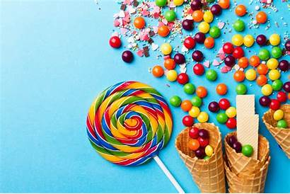 Waffle Lollipop Cone Candy Wallpapers Wallpapermaiden Desktop