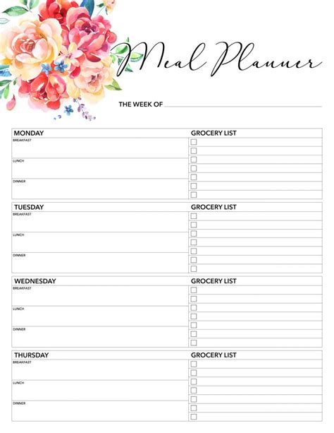 printable  planner   printable pages
