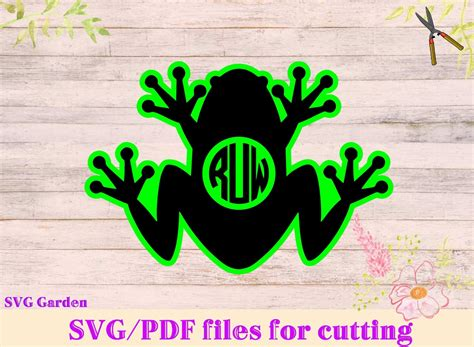 frog svg file frog monogram svg cutting template silhouette