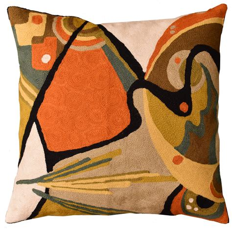 Contemporary Sofa Pillows by Kandinsky Throw Pillow In The Flow Decorative Wool