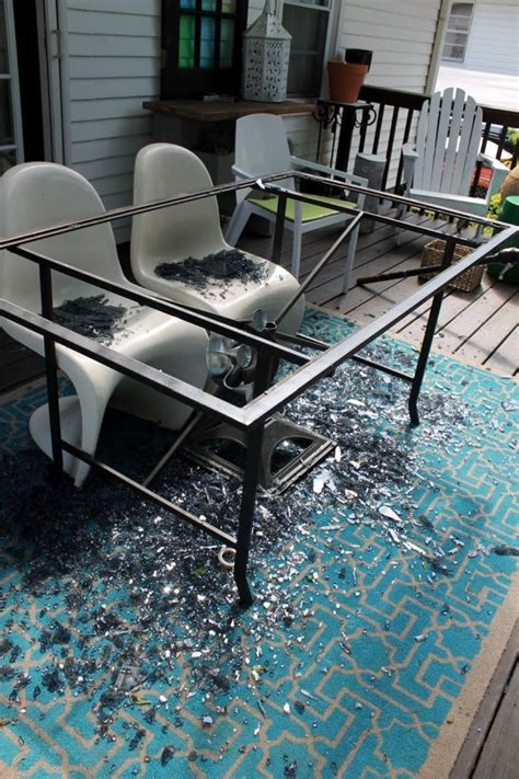 Crashed Into A Coffee Table by From A Crashed Glass Table To A Wood One Diy Outdoor