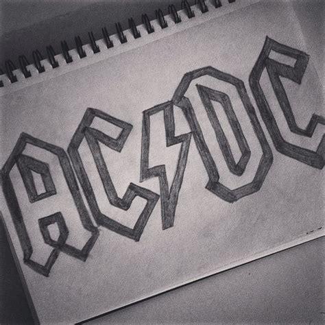 acdc band logo drawing rock hard rock  crafty