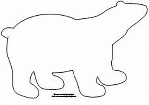 Polar Bear Outline   New Calendar Template Site