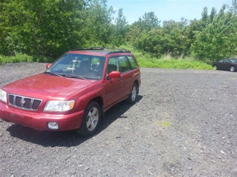red subaru forester 2000 purchase used 2002 red subaru forester s model in