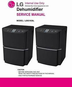 Lg Ld651ebl Dehumidifier Service Manual And