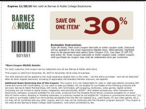 barnes noble coupons  daily coupons