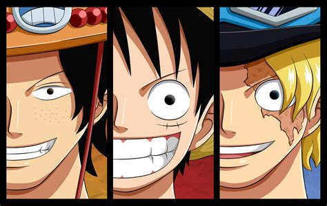 luffy sabo ace wallpaper  background image