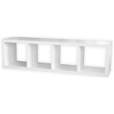 Cube Bookcase White by Uberhaus 4 Cube Bookcase White Cube1x4 W Ace Canada