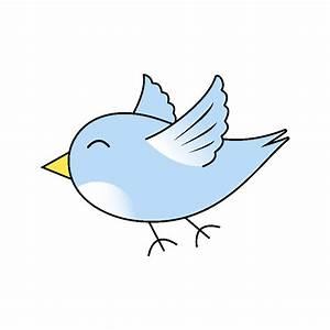 Cute Blue Flying Bird by tigerlynx Cute flying cartoon ...