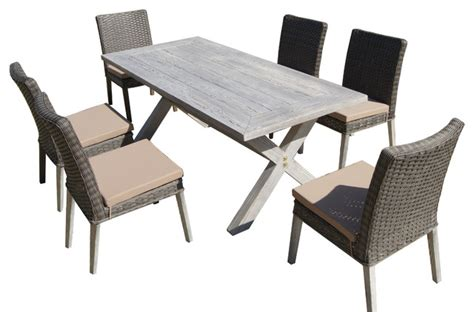 lindmere 7 antique gray wood wicker patio