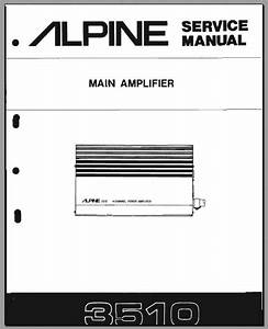 Alpine 3510 Service Manual  Analog Alley Manuals
