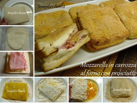 mozzarella in carrozza al forno senza pane mozzarella in carrozza al forno con prosciutto semplici