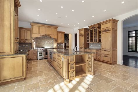 spacious light wood custom kitchen designs