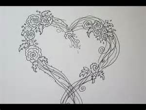 Heart and Rose Drawings Easy
