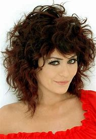 Medium Length Layered Hairstyles Curly Hair