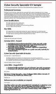 cyber security specialist cv sample myperfectcv With cyber security resume template