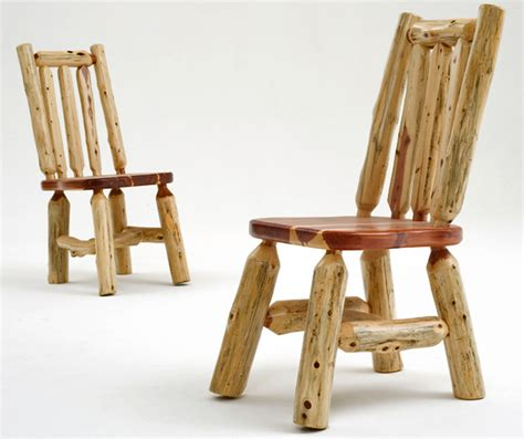 log table and chairs log dining chair rustic furniture cabin seating lodge