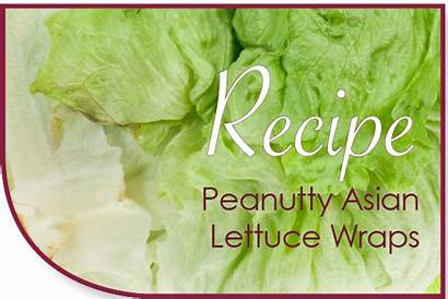 Lettuce Peanutty Wraps Asian Alternative