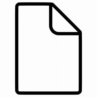 Documento Blanco Icono Dokument Symbol Icon Document