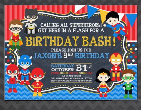FREE 19+ Superhero Birthday Invitations in Word PSD AI
