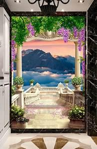 Tableau Trompe L Oeil Paysage : les 10 meilleures images du tableau papier peint paysage romantique trompe l 39 oeil 3d de www ~ Melissatoandfro.com Idées de Décoration