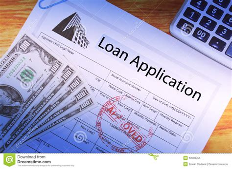 Loan Application Stock Image. Image Of Home, Employment