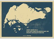 Old Vintage Singapore Map Download Free Vector Art