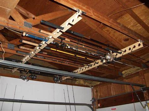 Ceiling Mount Fishing Rod Racks by Ceiling Mounted Rod Racks