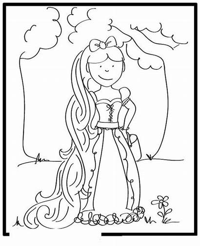 Rapunzel Coloring Pages Printable Tangled Story Disney