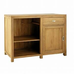 meuble bas de cuisine ouverture gauche en teck massif l With meuble bas maison du monde 0 meuble bas de cuisine en teck massif l 120 cm amsterdam