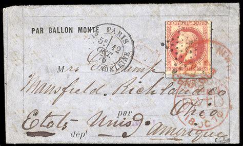 siege ballon cherrystone philatelic auction lots of sts