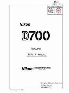 Nikon D700 Repair Manual