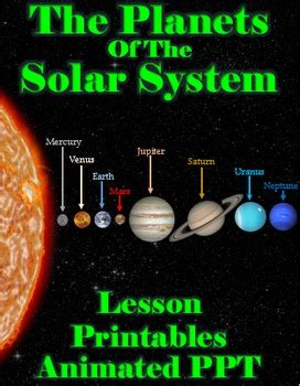 freebie the planets of the solar system lesson