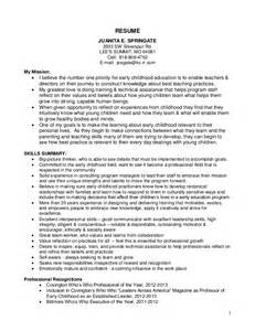 early childhood educator resume sles cv template for early childhood education top essay writing attractionsxpress