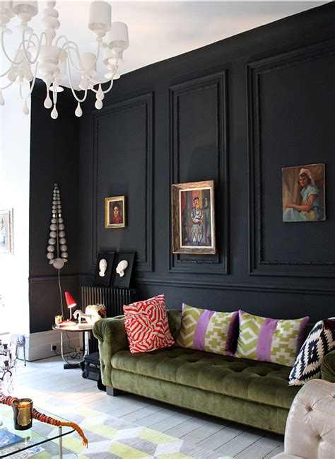 living room black walls 28 ideas for black wall interior styling black molding eclectic decor and moldings
