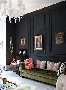 28 Ideas for Black Wall Interior Styling Black molding