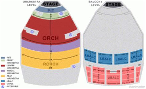 seating charts tucson  hall