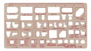 Chartpak Pickett Architectural Templates - BLICK art materials  Architectural Furniture Templates