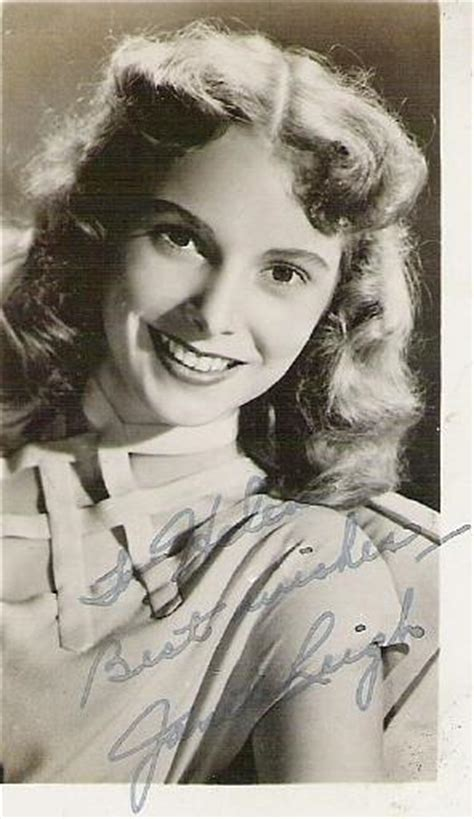 Janet Leigh; publicity photograph with autograph.