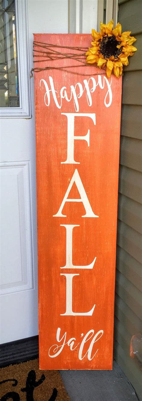 reversible porch sign harvest porch sign happy fall