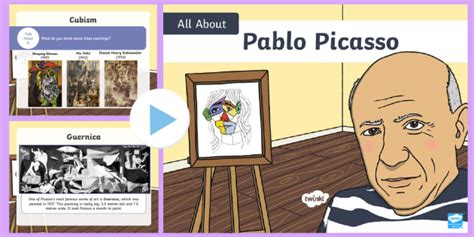 * New * Ks1 All About Picasso Powerpoint  Cubism, Spain, Art