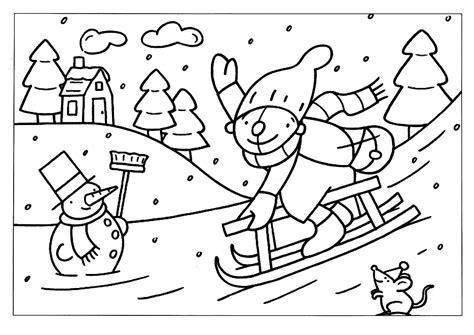 Kleurplaat Winter by Kleurplaat Pompom Op De Slee Kleurplaten