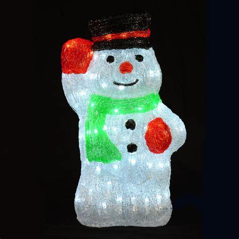 light up snowman indoor christmas acrylic waving snowman led light up decoration