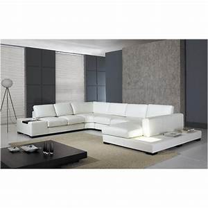 Vig furniture t35 white leather sectional sofa with lights for White leather sectional sofa with lights